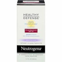 Neutrogena Healthy Defense Daily Moisturizer for Sensitive Skin with SPF... - $12.19