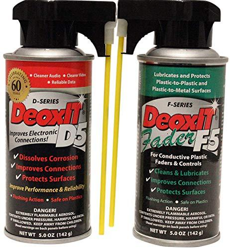 Hosa DeoxIT D5S6 Contact Cleaner + F5S-H6 FaderLube bundle