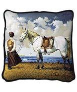 Sea Captain's Wife Abiding Throw Pillow - artist Charles Wysocki - $39.95