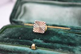 Vintage Gold lapel pin art deco theme with diamond cut style #L14 - $12.16