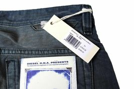 NEW DIESEL MEN'S PREMIUM DENIM REGULAR SLIM STRAIGHT DESIGNER JEANS SAFADO 0811M image 6