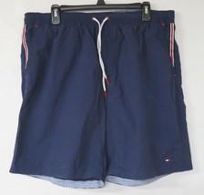 Tommy Hilfiger Men's Blue Swim Trunks Lined Size XL 100% Nylon Shorts - $14.84