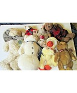 Big lot of 7 BOYDS plush BEARS - QUACKENWADDLE, ZELDA HARE, MATTHEW BEAR... - $41.99