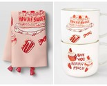 You're Sweet Love You Berry Much Mug Set and Tea Towel Opalhouse 15oz New Set - £14.25 GBP