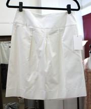 PIAZZA SEMPIONE White Cotton Pleated Skirt Sz 44 or 6/8 $595 - $158.63