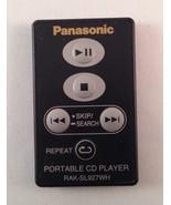 Panasonic RAKSL927WH Portable CD Player Remote Control Made in Japan - $11.35