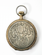 Antique Swiss 800 Fine Hunters 2Tone 24hr Dial Pocket Watch Remontoir 6R... - €73,31 EUR
