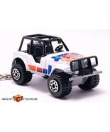 RARE KEY CHAIN WHITE JEEP WRANGLER 4X4 CJ5 CJ7 AMC KAISER CUSTOM LIMITED... - $38.98
