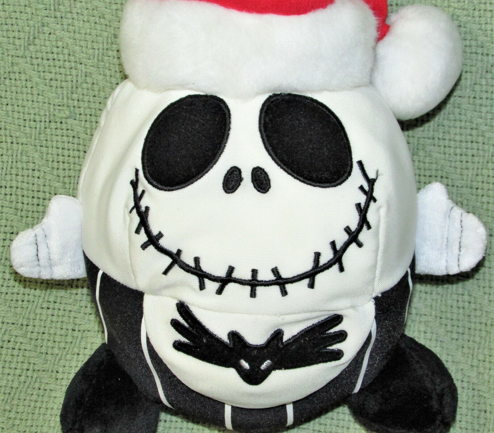 "DISNEY JACK SKELLINGTON SANTA PLUSH NIGHTMARE BEFORE CHRISTMAS 8"" ROUND PLUSH image 2"