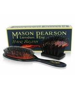 Mason Pearson Junior Bristle & Nylon Hair Brush Medium (BN2) Dark Ruby N... - $80.02