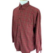 Pendleton Men's Canterbury Cloth Shirt Merino Wool Pima Cotton Red Plaid... - $32.49