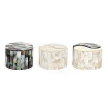 "Ceramic Yin Yang Salt & Pepper Shakers With Mother of Pearl Inlay 2.6"" x... - €25,55 EUR"