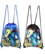 2 DISNEY MONSTERS UNIVERSITY DRAWSTRING BAG BACKPACK TRAVEL STRING POUCH - $18.80
