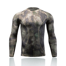 Men's Sports Camouflage Tactical Quick Dry Shirt Long Sleeve Fitness Clo... - $14.97
