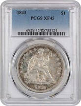 1843 $1 PCGS XF45 - Low Mintage Date - Liberty Seated Dollar - Low Minta... - $679.00