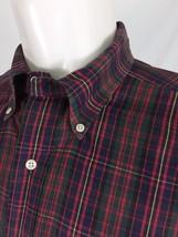 "Ralph Lauren ""Big Shirt"" Casual Shirt Men's Medium Multi-Color Tartan Pl... - $19.63"