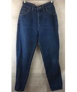 Lee High Waist Denim Blue Jeans Size 11 Pleated USA Made - $17.16
