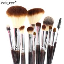 Vela Yue Professional Makeup Brush Set 12 pcs High Quality Makeup Tools Kit - $23.89