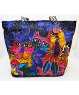 Laurel Burch Cats & Kittens Beach Style Canvas Tote Bag - $44.54
