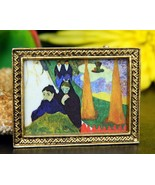 Miniature Picture Frame Brooch Pin Women Funera... - $19.95