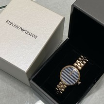 New Eporio Armani  AR11220 Blue Dial Rose Gold Stain Less Steel Band Women Watch - $272.25