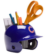 Chicago Cubs MLB Baseball Schutt Mini Batting Helmet Desk Caddy - $24.49