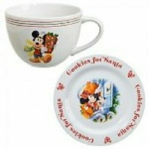 WDW DISNEY MICKEY MOUSE PLUTO CHRISTMAS COOKIES FOR SANTA PLATE AND MUG ... - $109.99