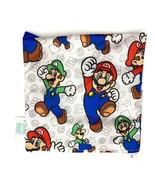 Bumkins Nintendo Super Mario Sandwich Bag Luigi Reusable Snack Zipper Sack - $9.50