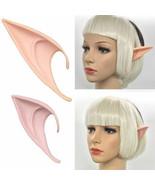 Long Prosthetic Fairy Pixie Elf Ear Halloween - 1x w/Random Color and De... - $7.69