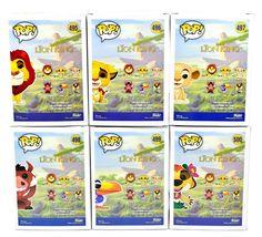 Funko Pop Disney The Lion King Mufasa Simba Nala Zazu Luau Pumbaa & Timon Set image 3