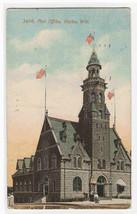 Post Office Racine Wisconsin 1921 postcard - $6.24