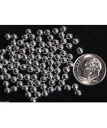 4mm Sterling Silver Round Beads (10) Made in U.S.A. - $3.47