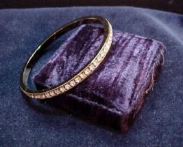 Vintage AVON Golden Rhinestone Band Bangle Bracelet - $20.90