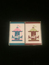 """Vintage Russell Gladstone Double Playing Card Boxed set- """"Carousels"""" image 2"""