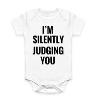 I'm Silently Judging You Funny Hipster Tumblr Body Suit Baby Grow Vest Gift - $10.46