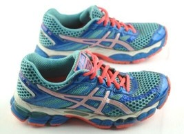 Asics Cumulus 15 Running Shoes Womens Size 6.5 Blue Pink Athletic Sneakers - $18.00