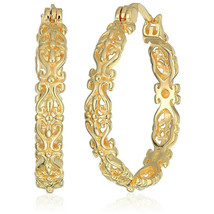 Fashion 18k Gold Plated Hoop Earrings for Women Jewelry Gift A Pair/set - $10.99