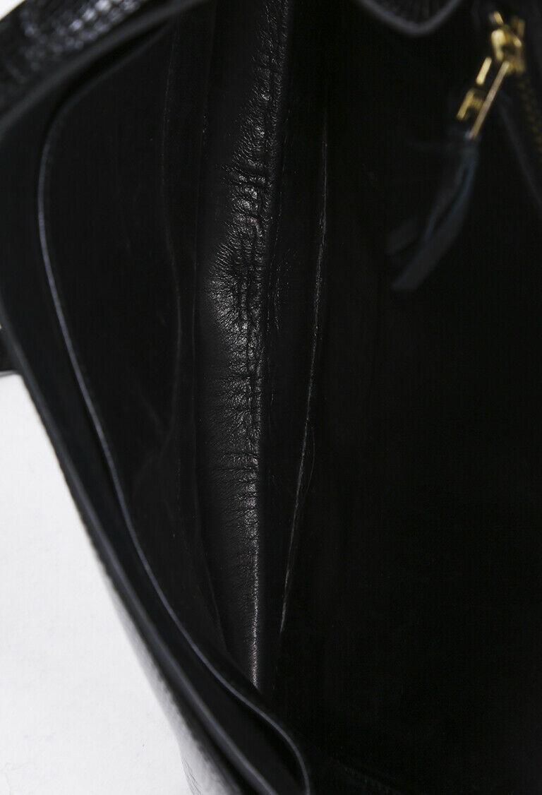 Vintage Hermes Lydie Lizard Skin Shoulder Bag image 6