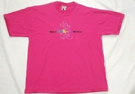 VTG 90s Mickey Mouse Embroidered Pink XL T-SHIRT Mickey, Inc Walt Disney - $8.90