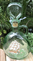 Vtg Green Glass Decanter Old Fitzgerald 1849 Flagship 65 67 Ship Bottle... - $19.58