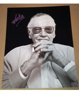 Stan Lee Hand Signed 8x10 Photo COA Marvel Avengers Iron Man Hulk - $150.00