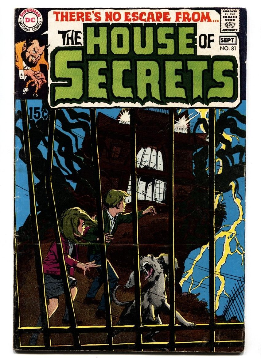 Primary image for HOUSE OF SECRETS #81 1969-DC-1ST APPEARANCE OF ABLE-1ST NEAL ADAMS COVER