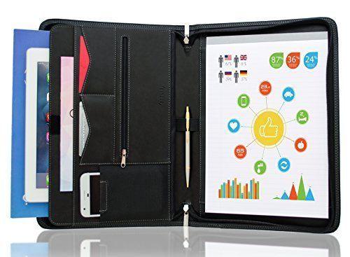 Stylio Zippered Padfolio Portfolio Binder And 50 Similar Items