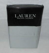 2 Ralph Lauren Dunham Standard Cotton Pillowcases 300TC Silver NEW FREE SHIPPING - $26.72