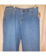NWT Gloria Vanderbilt Blue Denim Jeans Stretch Gold size 14A - $17.28