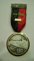 Two Vintage Swiss Rifle Club Team Medals San Diego California 2005  - $12.99
