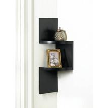 Zig Zag 2-Tier Corner Wall Shelf - Black - $24.68