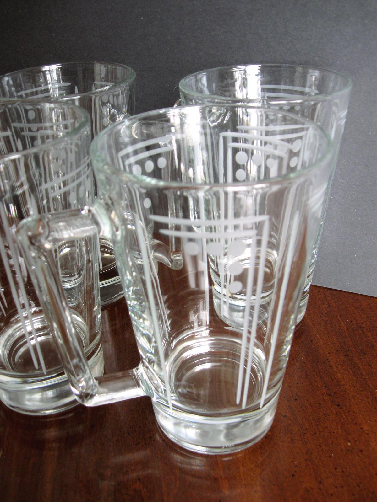 Set of Four (4) Princess House Crystal Beer Mugs - Aston Pattern