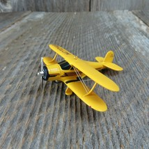 Airplane Hallmark Ornament Staggerwing 2002 Christmas Keepsake Yellow Bi... - $74.99