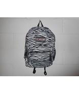Trans By Jansport Zebra Print Backpack Bookbag   - $14.99